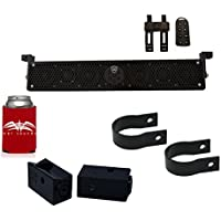 Wet Sounds Stealth 6 Ultra HD Black + UTV Mounting Kit, Slider bracket and Round 1.75 Tube clamp