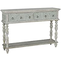 Pemberly Row Console Table in Distressed White