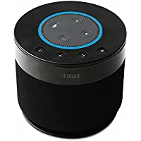KUOAS Bluetooth Wireless Speaker,Portable Indoor Outdoor Speaker with Battery Base for Crowd Who Loves Music and Relaxes - Black