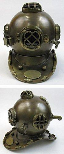 Antique Mark V Divers Helmet 18 - Mark Five Diving Helmet - Nautical Decor - Vintage by Handcrafted Model Ships