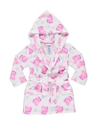 Peppa Pig Sleep Robe For Toddlers | Girls Fleece Hooded Bathrobe