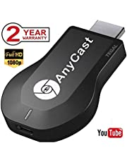 TEGAL Anycast WiFi Display Dongle, Wireless Screen Mirroring Adapter 1080P HDMI TV Stick Wireless Display Adapter, Support Chromecast Miracast DLNA Airplay for iOS/Android/Windows/Mac