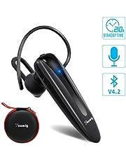 YONMIG Bluetooth Headset, Wireless Headset Handy Freisprechen im Ohr Kabellos Bluetooth Kopfhörer mit Mikrofon Auto Geschäft Bluetooth In-Ear Headset für iPhone Samsung Huawei usw