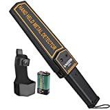 UNIROI Metal Detector Wand, Hand Held Security Scanner with 9V Battery, Belt Holster, Adjustable Sensitivity, Optional Sound and Vibration Modes for Airport, Open Port, Frontier, Company Entrance UD001