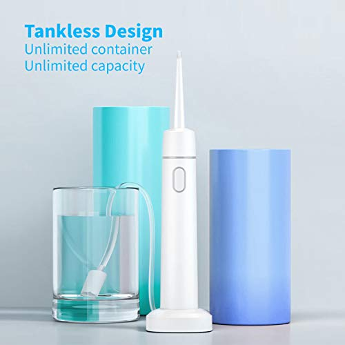 Portable Tankless Water Flosser for Teeth- Cordless Professional Dental Flosser for Braces ,Gums- Rechargeable Electric Flosser Waterproof Oral Irrigatorfor Travel , Office