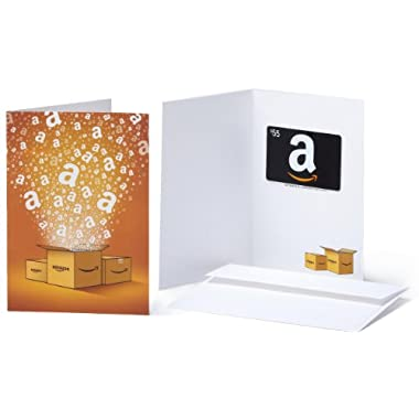 Amazon.com $55 Gift Card in a Greeting Card (Amazon Surprise Box Design)