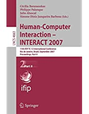 Human-Computer Interaction - INTERACT 2007: 11th IFIP TC 13 International Conference, Rio de Janeiro, Brazil, September 10-14, 2007, Proceedings, Part II