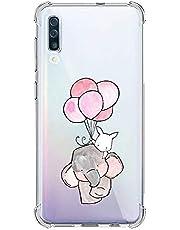 Oihxse Silicona Funda con Xiaomi Redmi Note 9Pro TPU Flexible Suave Transparente Protector Estuche Airbag Esquinas Reforzadas Ultra-Delgado Elefante Patrón Anti-Choque Caso (D7)