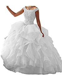 Womens Long Prom Dresses Ball Gown Beaded Quinceanera Dresses 00011