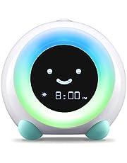 LittleHippo Mella Ready to Rise Children's Trainer, Alarm Clock, Night Light Sleep Sounds Machine (Arctic Blue), Standard