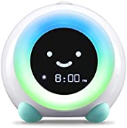 LittleHippo Mella Ready to Rise Children's Trainer, Alarm Clock, Night Light Sleep Sounds Machine (Arctic
