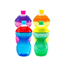 Munchkin Click Lock 9-Ounce Bite Proof Sippy Cup, Blue, Yellow, Green, Pink