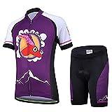 AMIGO Unisex Kids Cycling Jersey Set