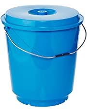 Cosmoplast Plastic EX Bucket with Lid and Handle for Cleaning and Storing