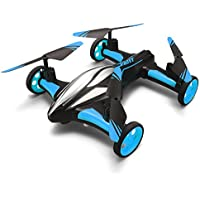 JJRC Flying Car Quadcopter Drone,Kingtoys Remote Control 360 Roll Over,Headless Mode with LED Lights 2-in-1 Fly & Drive