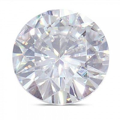 Moissanite Round Brilliant Cut VG Quality 6.0 mm 57 facets, Loose Stone by Charles & Colvard