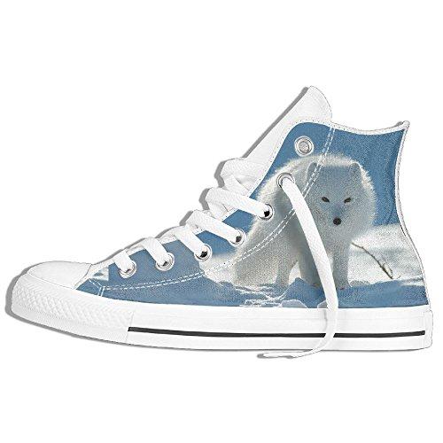 Classiche Sneakers Alte Scarpe Di Tela Anti-skid Volpe Artica Casual Da Passeggio Per Uomo Donna Bianco