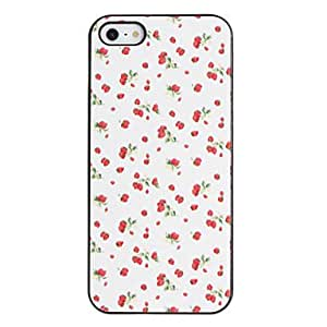 Small Strawberries Pattern PC Hard Case with Black Frame for iPhone 5/5S