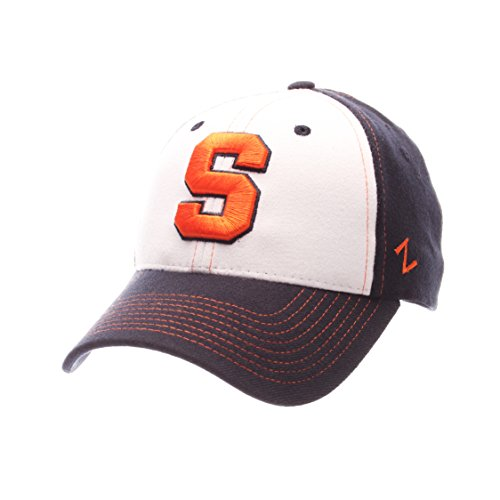 save off a3ad6 2ea4c Galleon - NCAA Syracuse Orange Adult Men Bleacher Z-Fit Hat ,Med Large,White Tc