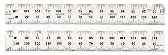 Starrett C635E-150 Spring Tempered Steel Rule With Millimeter Graduations, 150mm Length, 19mm Width, 1.2mm Thickness