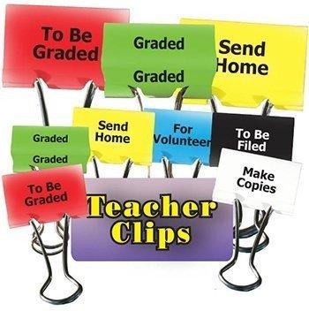 Things To Do Teacher Clips 12Pk 1-1/4In