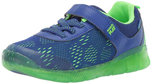 (Stride Rite Lighted Neo Boy's and Girl's Athletic Light-Up Mesh Sneaker, Blue, 8 M US Toddler )