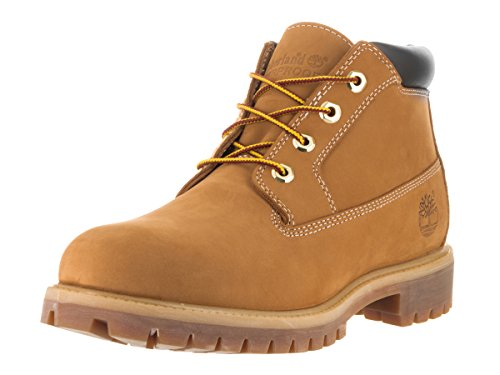 Timberland Mens Anti-Fatigue Heritage Waterproof Chukka Leather Boots Beige - marrón (Wheat)