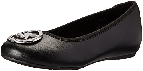 Michael Kors Flat Shoes (MICHAEL Michael Kors Kids Girl's Faye Ria (Little Kid/Big Kid) Black 1 Little Kid M)