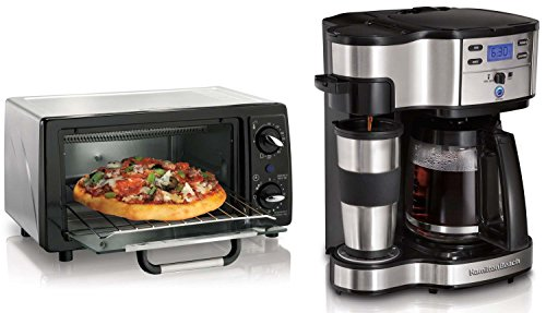 Hamilton Beach 6 Slice Toaster Oven & 12 Cup Digital Coffee Maker Kitchen Bundle (Coffee Maker With Toaster Oven compare prices)