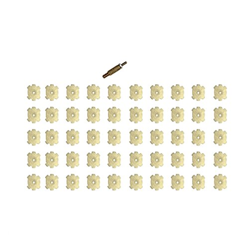 Delta Provision .223 / 5.56 Chamber Cleaning Pads w/ Rod Attachment (50 (Cleaning Stars)