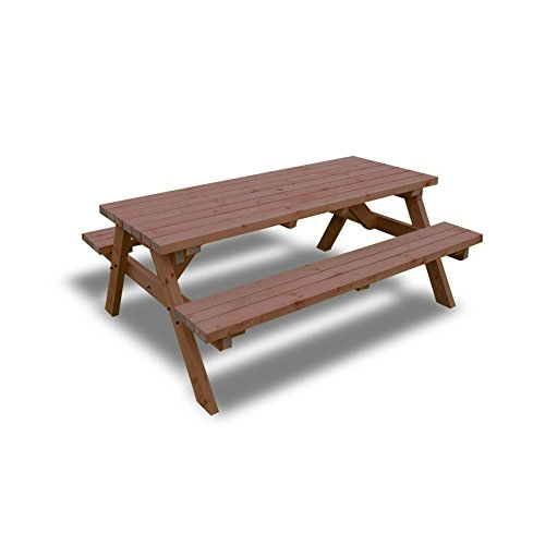Rutland County Garden Furniture PUB STYLE PICNIC TABLE BENCH - 6FT - HEAVY DUTY - HAND MADE - RUSTIC BROWN - PRESSURE TREATED!! RCGF04