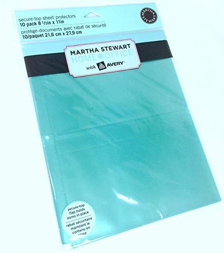 (2 Pk, Martha Stewart Home Office Secure-Top Sheet Protectors)