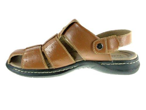 Sandali Da Pescatore Da Uomo Convertibili In Pelle P701 Marrone