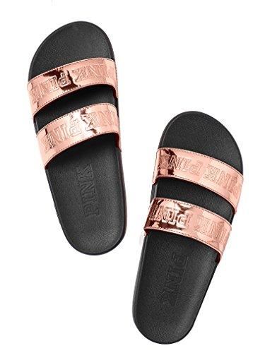Victoria's Secret Pink Sport Double Strap Slides Rose Gold Medium (Double Strap Slides compare prices)