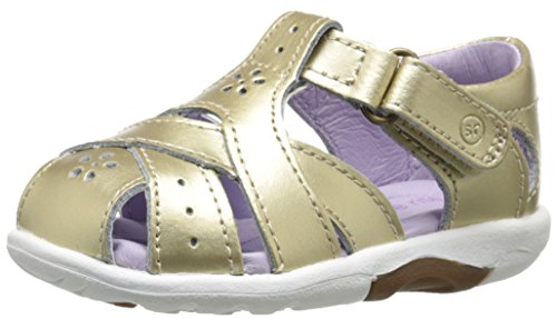 Stride Rite SRTech Tulip Sandal (Toddler), Gold, 5.5 W US (Leather Tulip)