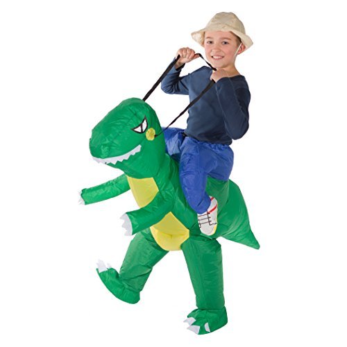 Inflatable T Rex Costume For Sale (Bodysocks - Inflatable Dinosaur Piggyback Blow Up Animal T-REX Children's Fancy Dress Costume)