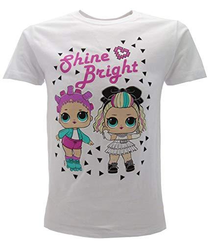 LOL Surprise! Origineel T-shirt voor meisjes, glitter, DJ, fuchsia of wit, L.O.L.