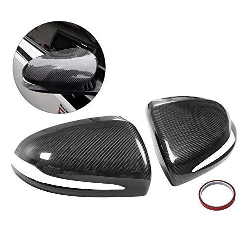 (Mophorn Carbon Fiber Mirror Covers Alfa Romeo Giulia Quadrifoglio Side Rear View Mirror 2017-20118 Carbon Fiber Side Mirror Cover Caps Cover For Alfa Romeo Giulia Quadrifoglio 2017-2018)