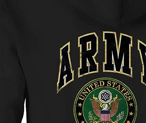 US Army Zip Up Hoodie Seal Emblem Hooded Sweatshirt for Men