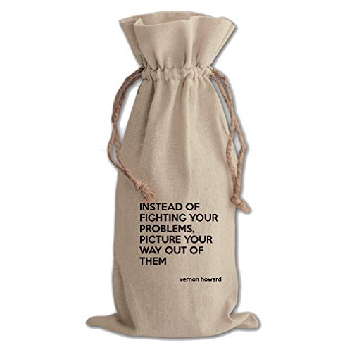 (Way Out Of Them (Vernon Howard) Cotton Canvas Wine Bag, Cotton Drawstring)