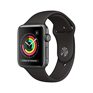 AppleWatch Series3 (GPS, 42mm) - Space Gray Aluminum Case with Black Sport Band