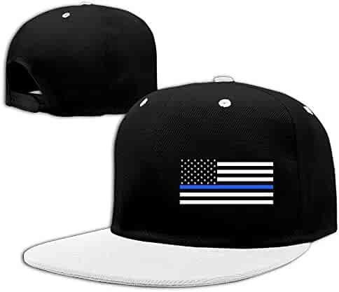 6947af019d0 Kooiico Men&women Support The Police Thin Blue Line American Flag Tour  Snapback Cap Adjustable
