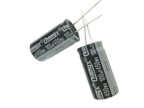 100uF 450V 18X36 +/-20% -25°C to +105°C 6 PCS Aluminum Electrolytic Capacitors from USA.