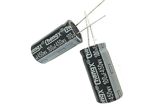 100uF 450V 18X36 +/-20% -25°C to +105°C 6 PCS Aluminum Electrolytic Capacitors from USA. 450v Electrolytic Capacitor