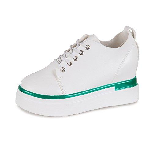 GTVERNH-Zapatos de mujer todo el partido en un calzado de mujer y de ocio de tendencia crecienteVerdeTreinta y siete Treinta y nueve