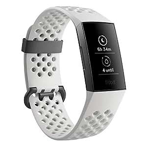 Fitbit FB410GMWT-CJK Charge 3 Se Graphite/White Silicone, Graphite/White Silicone