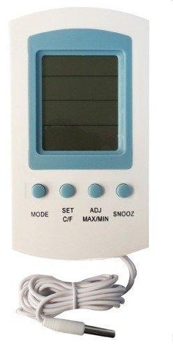 Termometro Digital Multifunciones Higrometro,alarma,humedad Marca Obi