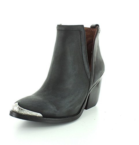 Campbell Cut Out Jeffrey - Jeffrey Campbell Womens Cromwell Black Distressed Boot - 7