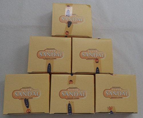 (Super Sandal Incense Cones By Satya Sai Baba 6 X 12 (72))