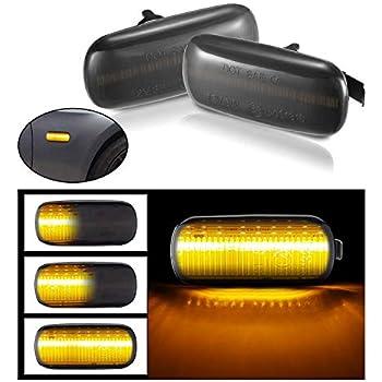 2 x M-Style Fender ahumado /ámbar LED Side Indicators